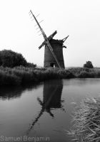 Old Windmill by Samuel-Benjamin