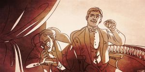 Holmes and Watson at the opera by Sigtryggr
