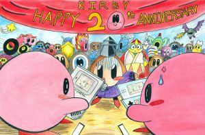 Kirby 20th Anniversary Tribute by SurfTiki