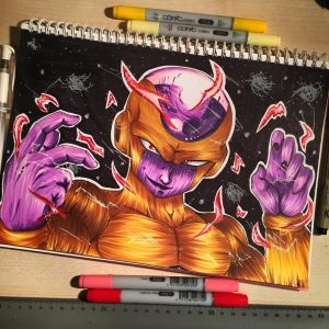 Golden Shiny Frieza by xxMi-ChansArtxx