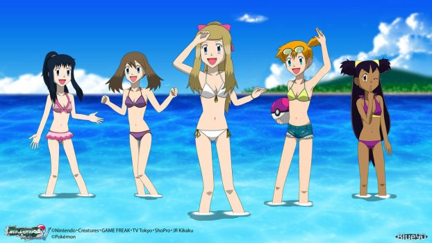 PKMN V - Swimsuit Girls 2 4K by Blue90