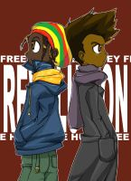 The Boondocks: Caesar and Huey by sukreih