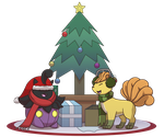 Commission: Shiny Christmas by Sandstormer