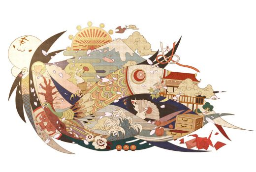'WA' -the world of japan- by chamooi