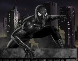 Spiderman pinup Black by jayodjick
