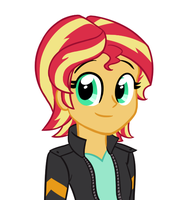 Sunny with short hair by catlover1672
