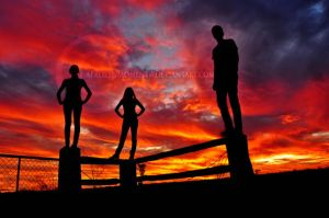 Outback Sunset by AFrozenMoment