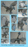StormEdge Gryphon - OOAK Posable doll by Ganjamira