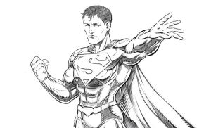 Superman Sketch by RAM by ramstudios1