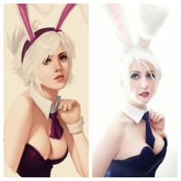 Battle Bunny Riven Compaire by Missyeru