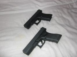 Glock's 17 and 19 by Poynton90