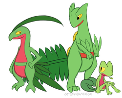 Treecko Family by SaturnCheese