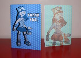 Personal Thank You Card (front and back) by pikajane