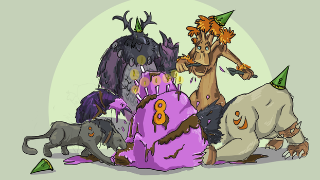 Today is our guilds 8th birthday! by Druidsofthebeast