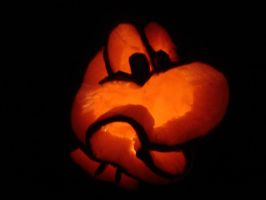 Yoshi Pumpkin by keeper-of-vilya