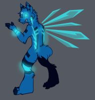 blue2.0 perhaps with wings by glowyrm