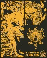 3 stars and the lion sun by ruados