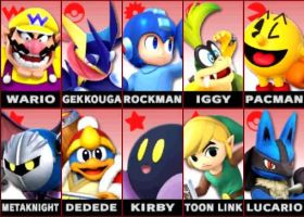 My smash mains by TheBigMan0706