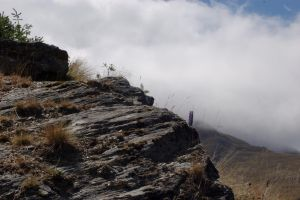 NZ Rocks mountain clouds by Chunga-Stock