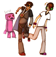 It's A Pink Creeper! RUN! by 1WebRainbowe1