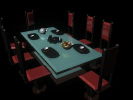 Dining Room Rough Model by julXart
