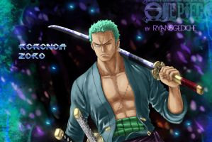 the awesome roronoa zoro by Ryan5Gediche