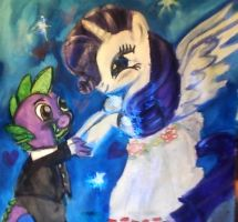 Princess Rarity and spikey wikey by mistresscarrie