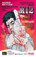 MI2. pre-opening party. FLYER by t-drom