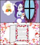 A Valentine Letter for Rarity by hectorcabz