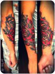 Roses tattoo by ripley23