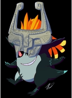 [Commission] - Midna Gengar by Riboo