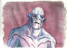 The Hobbit - Azog, The Defiler (Watercolor) by H0dric