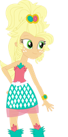 Equestria Girls Applejack (Applejewel get-up) by SketchMCreations