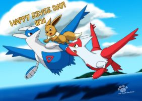 Happy Eevee Day 2014 by Coshi-Dragonite