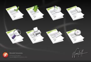 Document Icons by dellustrations