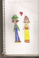 Luigi and Daisy in my style by choco-latte-squirrel