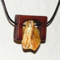 Unique Amber and Wood by AmberSculpture