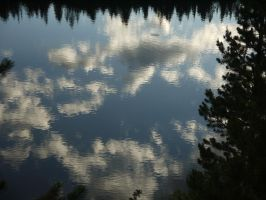 Reflection II, Chambers lake, Colorado by PamplemousseCeil