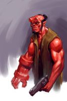 Hellboy sketch by puppeli