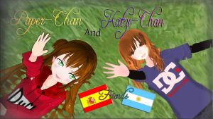 [MMD] Paper-Chan and Katze [Friends] by LoverCathy