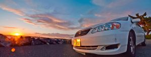 my Corolla in Sunset by Eigenmeat