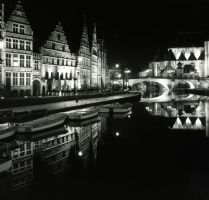 Gent on a wet winters night by Austinii