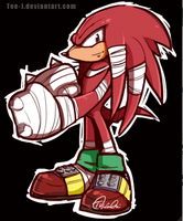 Knux quicksketch by Tee-J