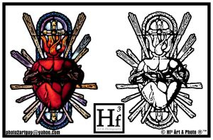 Sacred Heart Tattoo Flash by Big-Skivies