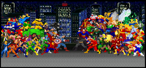 Avengers Vs Justice League by maxmax007