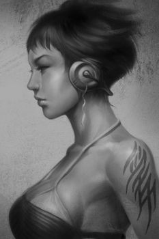 Pepper Grayscale by Artgerm