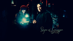 Severus Snape and Hermione Granger by watchwombat
