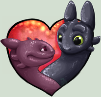 Toothless in love by xNIR0x