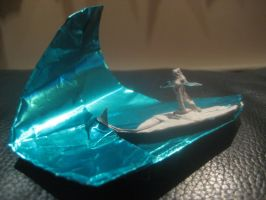 Origami Surfer on a Wave by musicmixer112