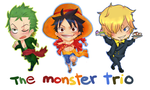 Monster Trio by thehairypeach